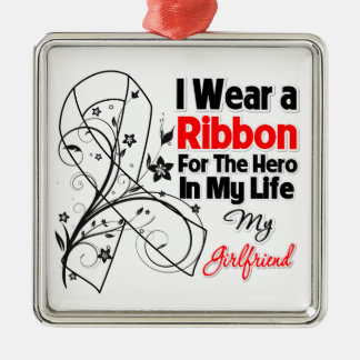 Girlfriend Hero in My Life Lung Cancer.png Christmas Ornament