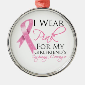 Girlfriend Inspiring Courage Breast Cancer Christmas Ornament