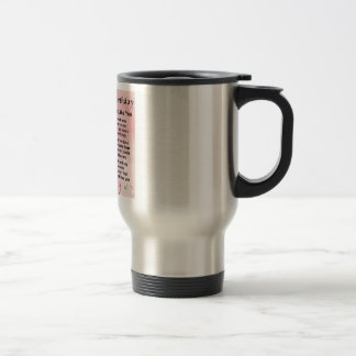 Girlfriend poem - 30th birthday design travel mug
