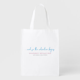 Girlfriends' Getaway Customizable Reusable Grocery Bag