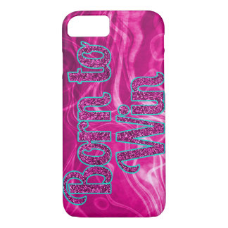 Girlie Glitter Born to Win iPhone 7 Case