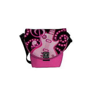 Girlie Guitar Messenger Bags