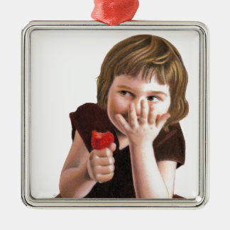 Girlish Giggles by Ana Tirolese Metal Ornament