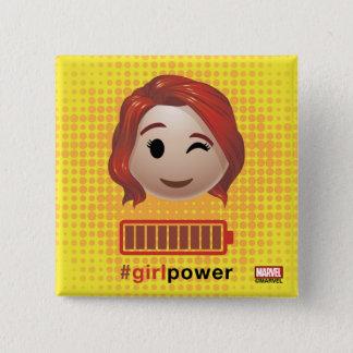 #girlpower Black Widow Emoji 15 Cm Square Badge