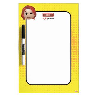 #girlpower Black Widow Emoji Dry Erase Board