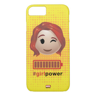 #girlpower Black Widow Emoji iPhone 8/7 Case