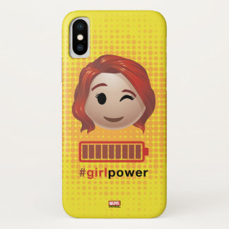 #girlpower Black Widow Emoji iPhone X Case