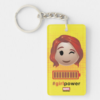 #girlpower Black Widow Emoji Key Ring