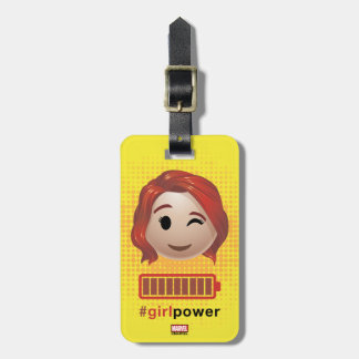 #girlpower Black Widow Emoji Luggage Tag