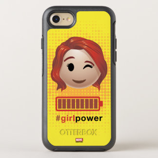#girlpower Black Widow Emoji OtterBox Symmetry iPhone 8/7 Case