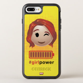 #girlpower Black Widow Emoji OtterBox Symmetry iPhone 8 Plus/7 Plus Case
