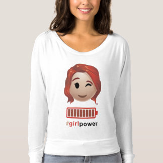 #girlpower Black Widow Emoji T-Shirt