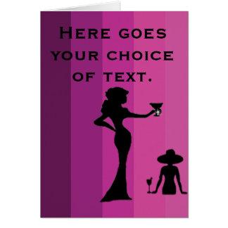 Girls-1 - Blank Greeting Card