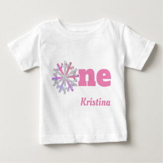 Girl's 1st Birthday Snowflake Shirt