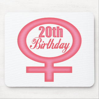 Girls 20th Birthday Gifts Mousepad