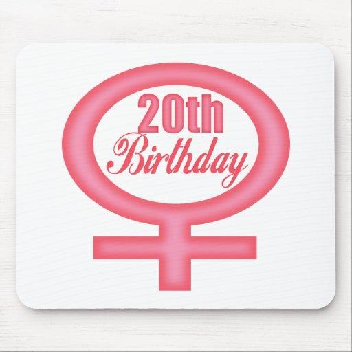 Girls 20th Birthday Gifts Mousepad