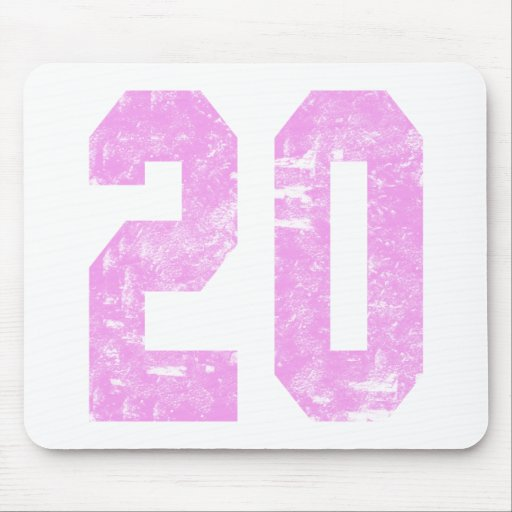 Girls 20th Birthday Gifts Mousepads