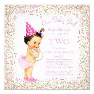 Girls Second Birthday Invitations Zazzle Au