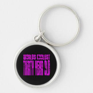 Girls 30th Birthdays Pink Worlds Coolest Thirty Key Chain