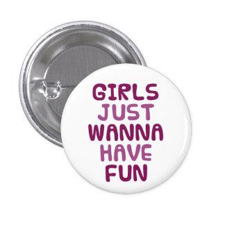 Girls 3 Cm Round Badge