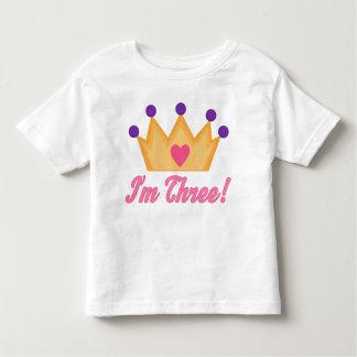 Girls 3rd Birthday Toddler T-Shirt