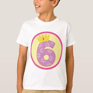Girls 6th Birthday T-Shirt