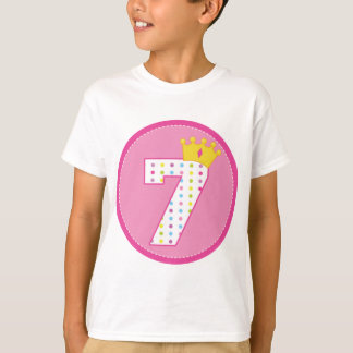 Girls 7th Birthday T-Shirt