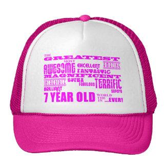 Girls 7th Birthdays : Pink Greatest 7 Year Old Trucker Hats