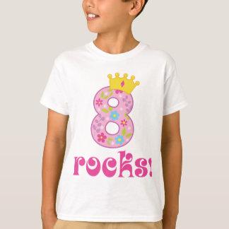 Girls 8th Birthday Crown T-shirt