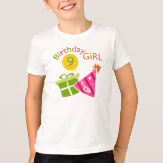Girls 9th Birthday T-Shirt