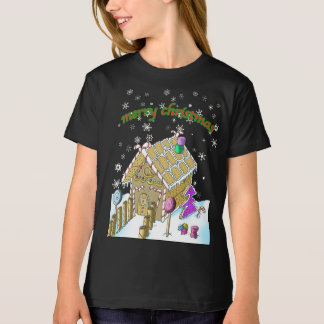 Girls' American Apparel Organic T-Shirt, Christmas T-Shirt