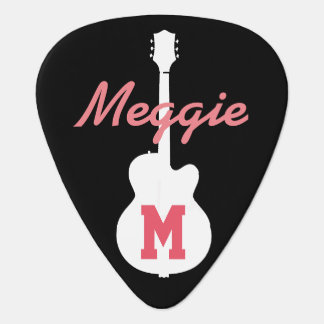 girls and rock music personalized plectrum