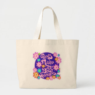 Girls are the Best Skaters! Jumbo Tote Bag
