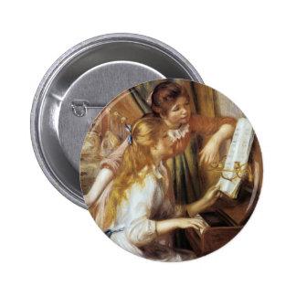 Girls at the Piano 6 Cm Round Badge