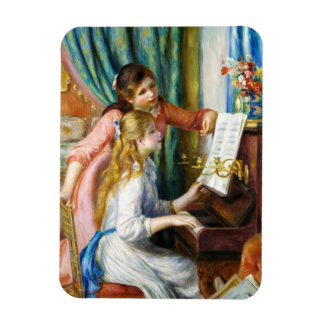 Girls at the Piano Pierre Auguste Renoir painting Rectangular Photo Magnet