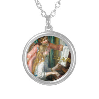 Girls at the Piano Silver Plated Necklace
