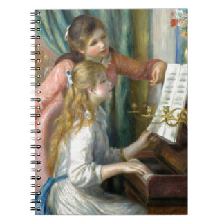 Girls at the Piano Spiral Notebooks