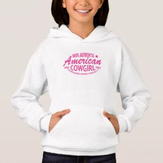 Girls Authentic American Cowgirl Sweatshirt Pink