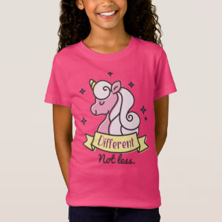 Girls Autism Awareness, Different Not Less T-Shirt