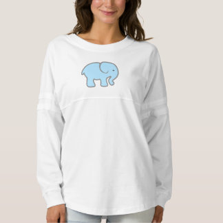 Girls Baby Blue Elephant Long Sleeve Shirt