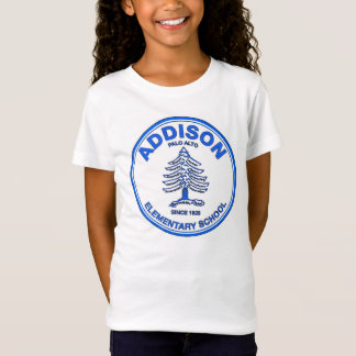 Girls' Babydoll Tee, Blue logo T-Shirt