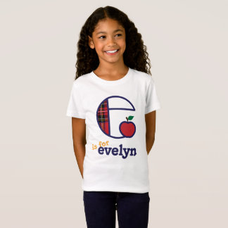 Girls Back to School Monogram e Shirt