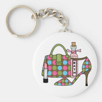 Girls Bags and Shoes Three Key Chains
