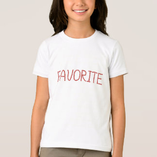 Girls' basic T-shirt with 'favorite'