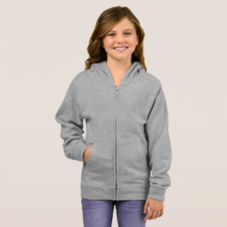 Girl's Basic Zip Hoodie