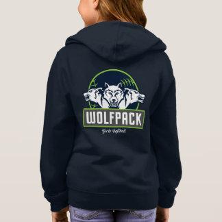 Girl's Basic Zip WolfPack Hoodie