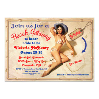 Girls Beach Getaway Weekend Party Invitations