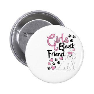 Girls Best Friend Button