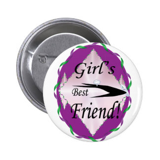 GIRL'S BEST FRIEND BUTTON
