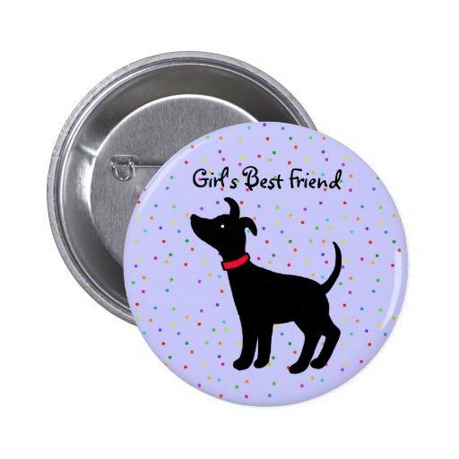Girl's Best Friend Italian Greyhound Dog Button